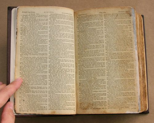 Photograph of a book after repair